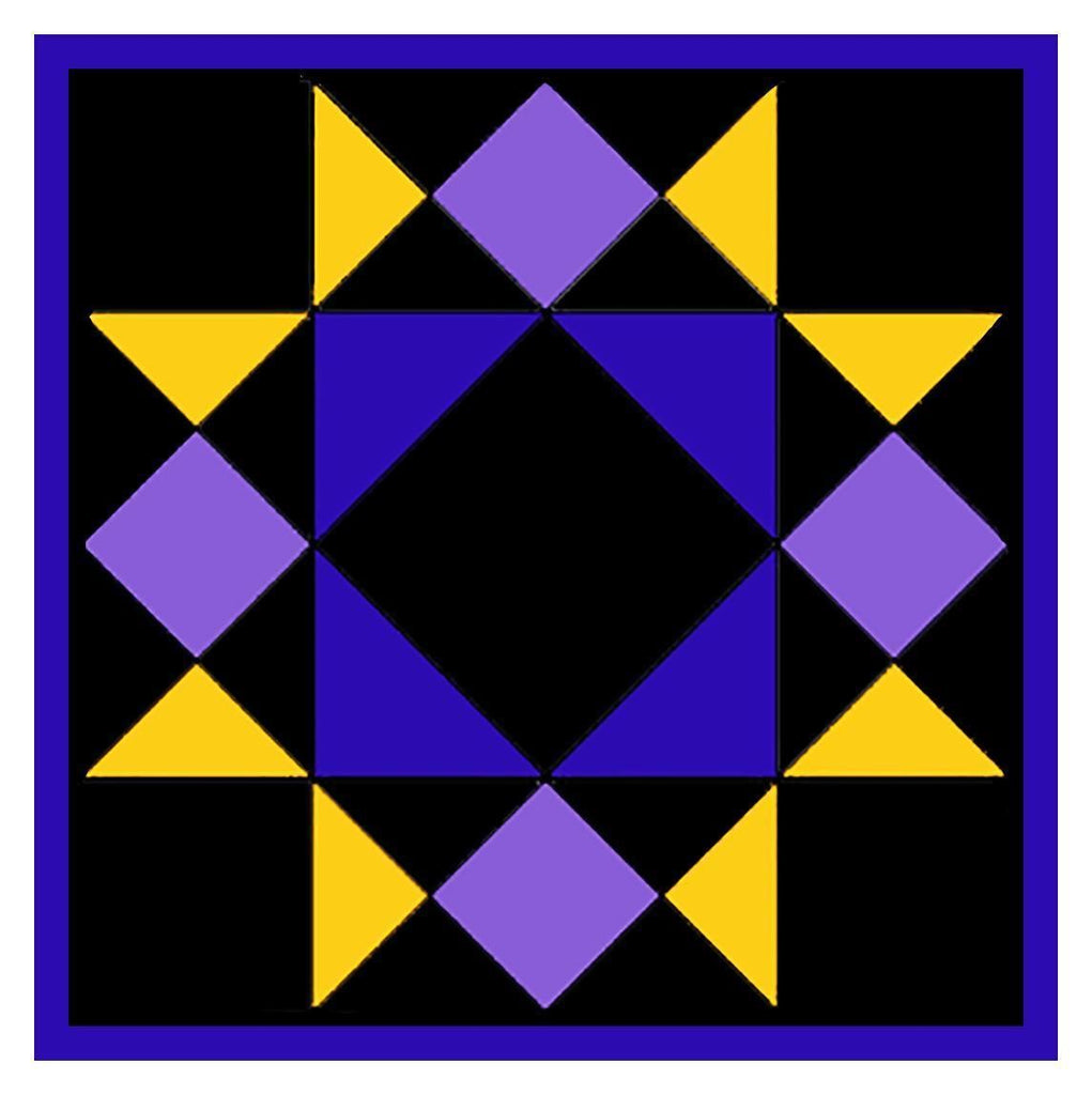 Amish Squares and Star Inspired Amish Quilt Counted Cross Stitch Pattern