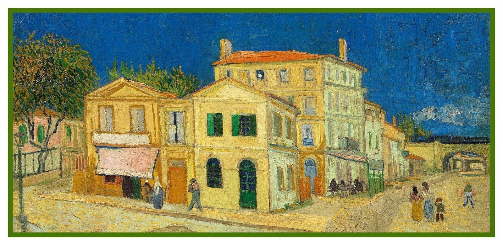 The Yellow House Street Scene by Vincent