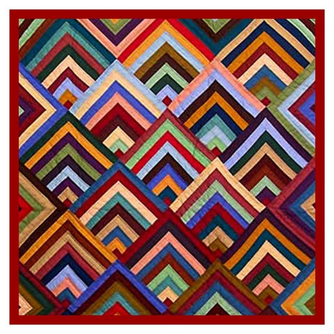 The Concentric Chevrons inspired by an Amish Quilt Counted Cross Stitch Pattern