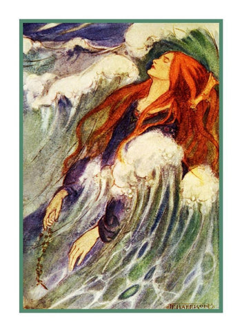 Pre Raphaelite Florence Harrison Maiden Dreamland Counted Cross Stitch Pattern