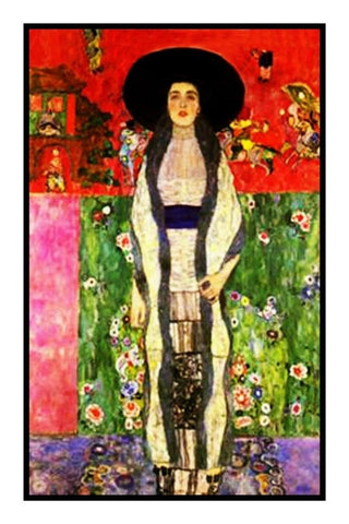 Symbolist Gustav Klimt Portrait of Adele # 1 Counted Cross Stitch Pattern