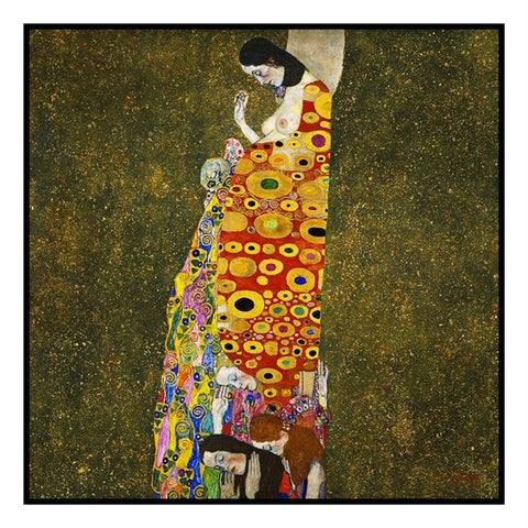 Symbolist Gustav Klimt Hope # 1 Counted Cross Stitch Chart Pattern