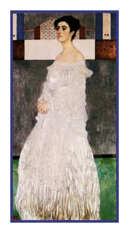 Art Nouveau Gustav Klimt Portrait of Margarete Counted Cross Stitch Pattern