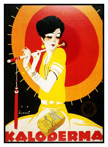 Art Deco Flapper Woman with a Parasol Counted Cross Stitch Pattern