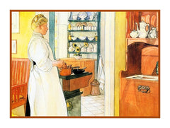 Anna Arnbom Kitchen inspired Swedish Carl Larsson  Counted Cross Stitch Pattern