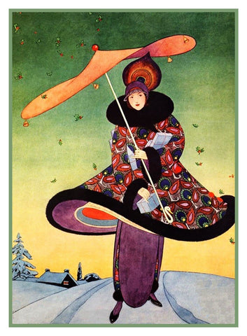 Art Deco Vogue Christmas Cover Helen Dryden  Counted Cross Stitch Pattern