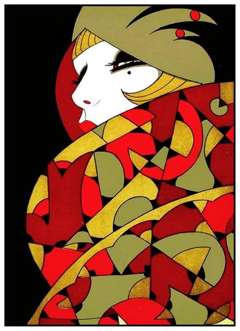 Art Deco Woman Vogue Ernesto Garcia Cabral  Counted Cross Stitch Pattern