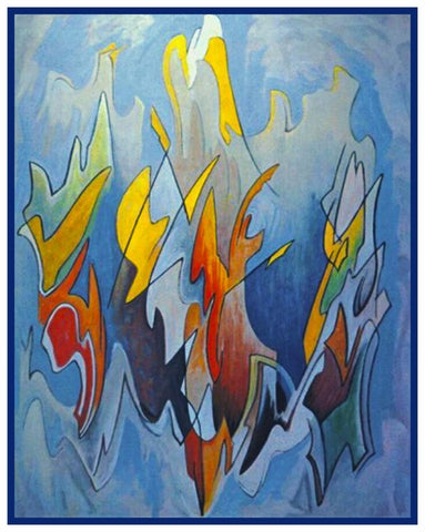 Abstraction Modern Art by  Canadian Lawren Harris Counted Cross Stitch Pattern