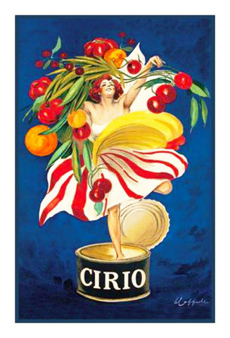 Cirio Advertisement Art by Leonetto Cappiello Counted Cross Stitch Pattern