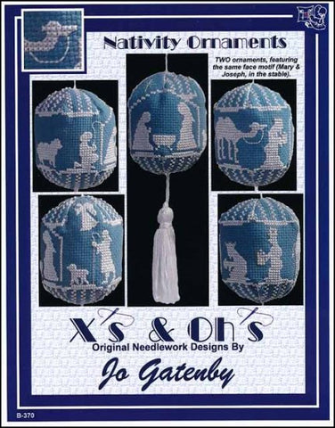 3D Nativity Ornaments By X's & Oh's  Counted Cross Stitch Pattern
