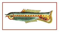 Fallours' Renard's Fantastic Colorful Tropical Fish 210 Counted Cross Stitch or Counted Needlepoint Pattern