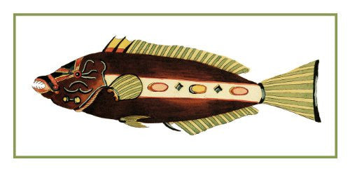 Fallours' Renard's Fantastic Colorful Tropical Fish 34 Counted Cross Stitch or Counted Needlepoint Pattern