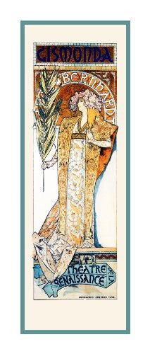 Gismonda by Alphonse Mucha Counted Cross Stitch or Counted Needlepoint Pattern