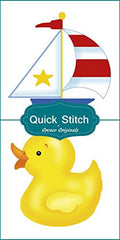 Quick Stitch Child Baby Sail Boat Rubber Ducky 2 Counted Cross Stitch or 2 Counted Needlepoint Patterns