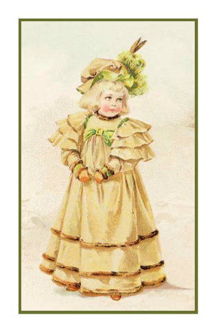 Young Girl Winter Finery by Maud Humphrey Bogart Counted Cross Stitch Pattern