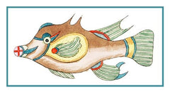 Fallours' Renard's Fantastic Colorful Tropical Fish 8 Counted Cross Stitch or Counted Needlepoint Pattern