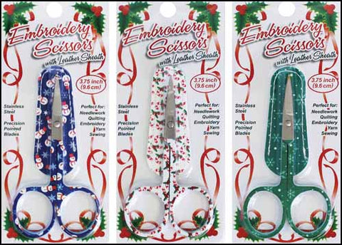 HOLIDAY EMBROIDERY SCISSORS WITH MATCHING SHEATH