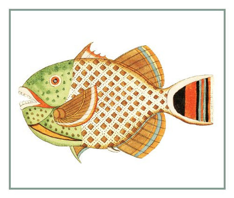 Fallours' Renard's Fantastic Colorful Tropical Fish 24 Counted Cross Stitch or Counted Needlepoint Pattern