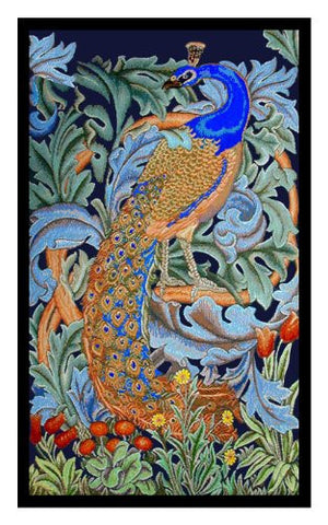 Peacock by Arts and Crafts Movement Founder William Morris Counted Cross Stitch Pattern