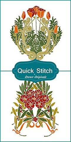 Art Nouveau Designs #7 Quick Stitch Flower 2 Counted Cross Stitch Patterns