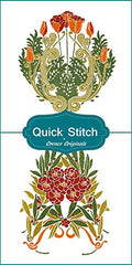 Art Nouveau Designs #7 Quick Stitch Flower 2 Counted Cross Stitch or 2 Counted Needlepoint Patterns - Orenco Originals LLC
