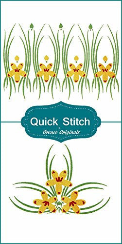 Art Nouveau Designs #2 Quick Stitch Flower Designs 2 Counted Cross Stitch Patterns - Orenco Originals LLC