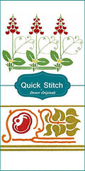 Art NouveauDesigns #13 Quick Stitch Flower 2 Counted Cross Stitch or 2 Counted Needlepoint Patterns