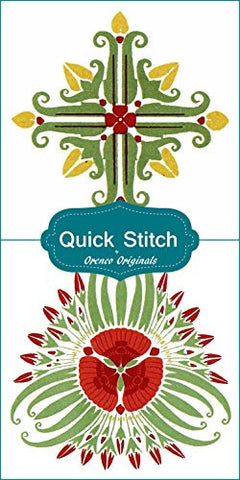 Art Nouveau Designs #1 Quick Stitch Flower 2 Counted Cross Stitch Patterns