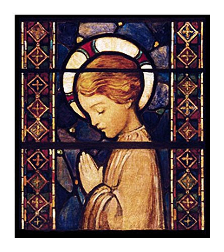 A Child Praying Jessie Willcox Smith Counted Cross Stitch or Counted Needlepoint Pattern