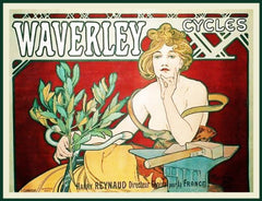 Waverly Cycles by Alphonse Mucha Counted Cross Stitch or Counted Needlepoint Pattern