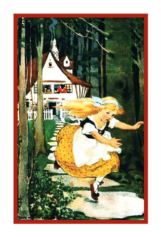 Goldilocks Runs Away From The 3 Bears By Jessie Willcox Smith Counted Cross Stitch or Counted Needlepoint Pattern