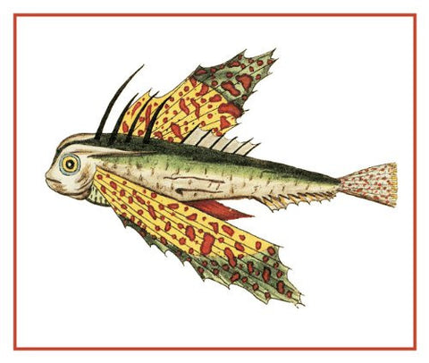 Fallours' Renard's Fantastic Colorful Tropical Fish 40 Counted Cross Stitch Pattern