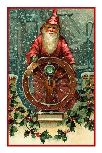 Antique French Father Christmas Santa Counted Cross Stitch Chart Pattern