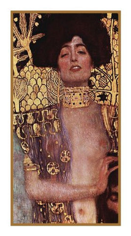 Art Nouveau Artist Gustav Klimt's Judith in Gold Counted Cross Stitch Pattern