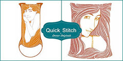 Art Nouveau Designs #5 Quick Stitch 2 Counted Cross Stitch or 2 Counted Needlepoint Patterns