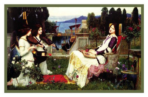 Saint Cecilia inspired by John William Waterhouse Counted Cross Stitch or Counted Needlepoint Pattern