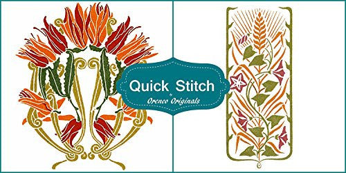Art Nouveau Designs #4 Quick Stitch Flower 2 Counted Cross Stitch or 2 Counted Needlepoint Patterns