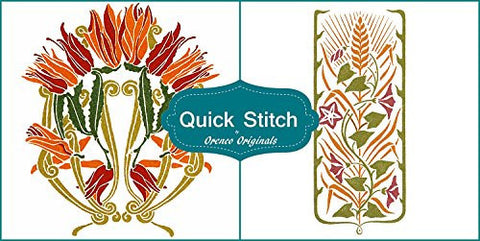 Art Nouveau Designs #4 Quick Stitch Flower 2 Counted Cross Stitch Patterns