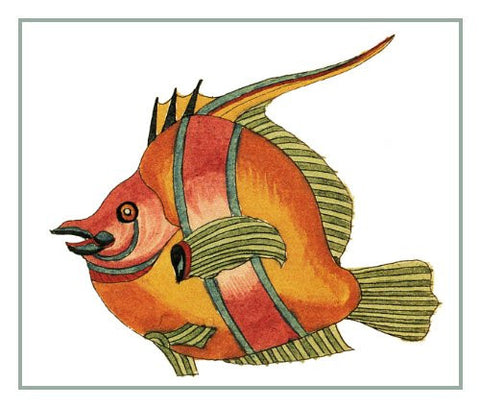 Fallours' Renard's Fantastic Colorful Tropical Fish 25 Counted Cross Stitch or Counted Needlepoint Pattern