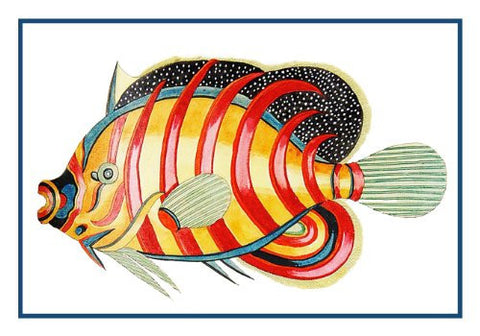 Fallours' Renard's Fantastic Colorful Tropical Fish #222 Counted Cross Stitch or Counted Needlepoint Pattern
