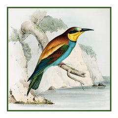 Bee Eater by Naturalist John Gould Birds Counted Cross Stitch  Pattern - Orenco Originals LLC