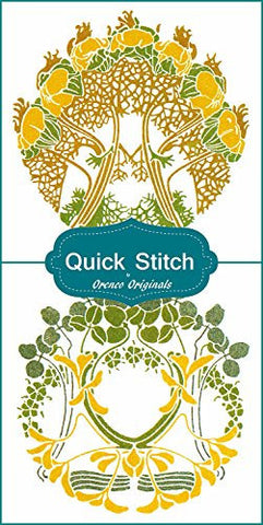 Art Nouveau Designs #6 Quick Stitch Flower 2 Counted Cross Stitch Patterns