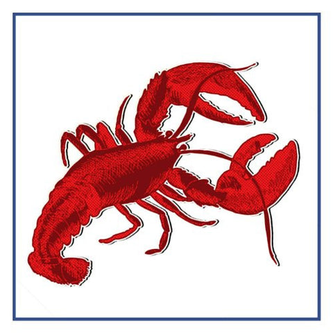 Nautical Seashore Red Lobster Counted Cross Stitch or Counted Needlepoint Pattern