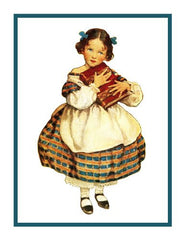 Jo from Little Women By Jessie Willcox Smith Counted Cross Stitch or Counted Needlepoint Pattern