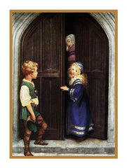 Irene and Curdie from The Princess and The Goblin By Jessie Willcox Smith Counted Cross Stitch or Counted Needlepoint Pattern