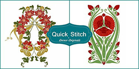 Art Nouveau Designs #8 Quick Stitch Flower 2 Counted Cross Stitch Patterns