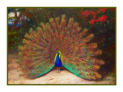 Peacock Butterfly by Naturalist Archibald Thorburn's Bird Counted Cross Stitch or Counted Needlepoint Pattern