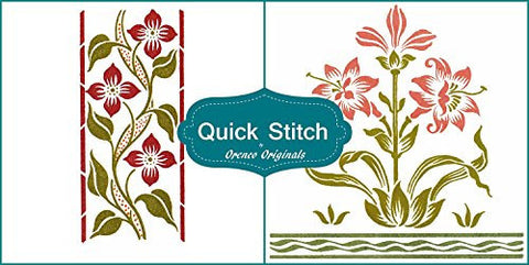 Art Nouveau Designs #14 Quick Stitch Flower 2 Counted Cross Stitch Patterns
