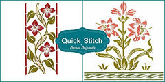 Art Nouveau Designs #14 Quick Stitch Flower 2 Counted Cross Stitch or 2 Counted Needlepoint Patterns
