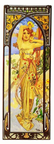 Time of Day Brightness of Day by Alphonse Mucha Counted Cross Stitch or Counted Needlepoint Pattern